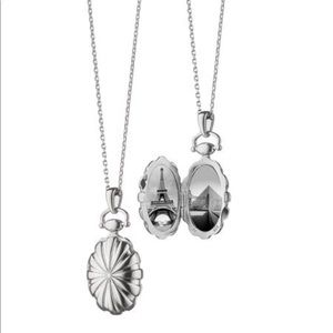 Monica Rich Kosann silver sunburst locket